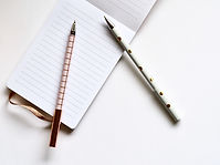 Two Pens sit on a Notebook in a congressional office