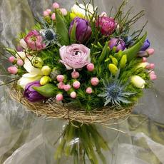 Mittel-großer gemischter Blumenstrauß