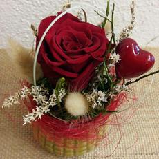 Vase mit langlebiger Rose