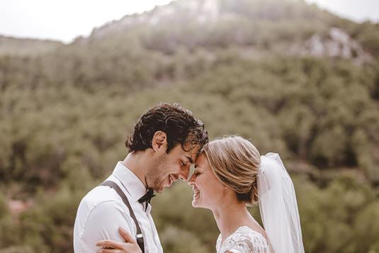 Wedding couple in Son Mir Mallorca