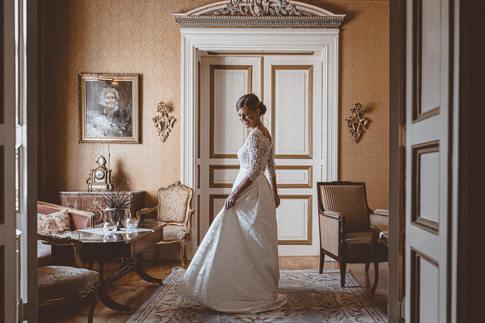 Bride preparing for ceremony