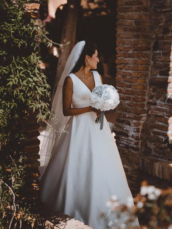 Walking down the aisle bride