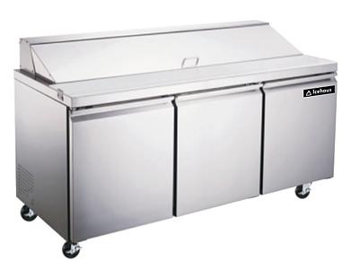 Mesa de preparación de ensaladas y sandwiches 3 puertas  ME-3P-SS-01