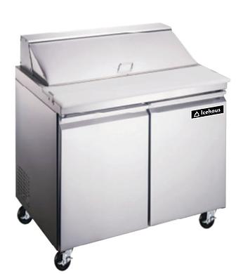 Mesa de preparación de ensaladas y sandwiches 2 puertas 213 litros   ME-2P-SS-03