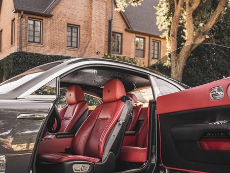 Driving a Rolls Royce in Los Angeles