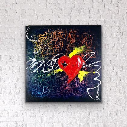 "GRAFFITIHEART   |  24x24"""