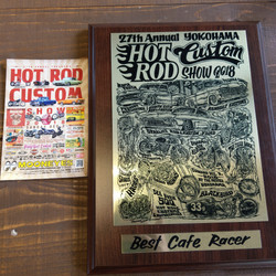 HCS2019 Best Cafe Racer 受賞
