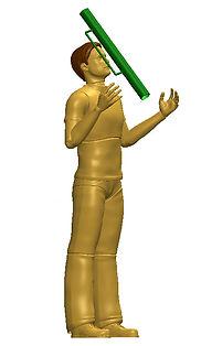 Anthropoemtic 3D humanoid