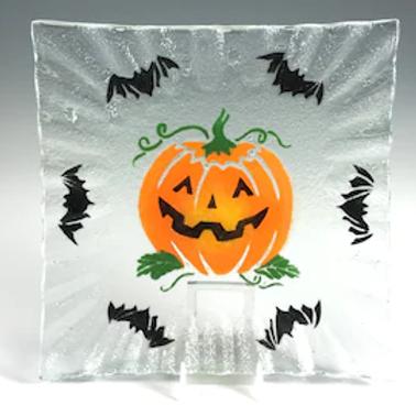 Halloween Glass Sweetie Trinket