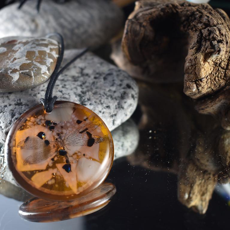 Spooky Amber Glass Jewellery Necklace Workshop
