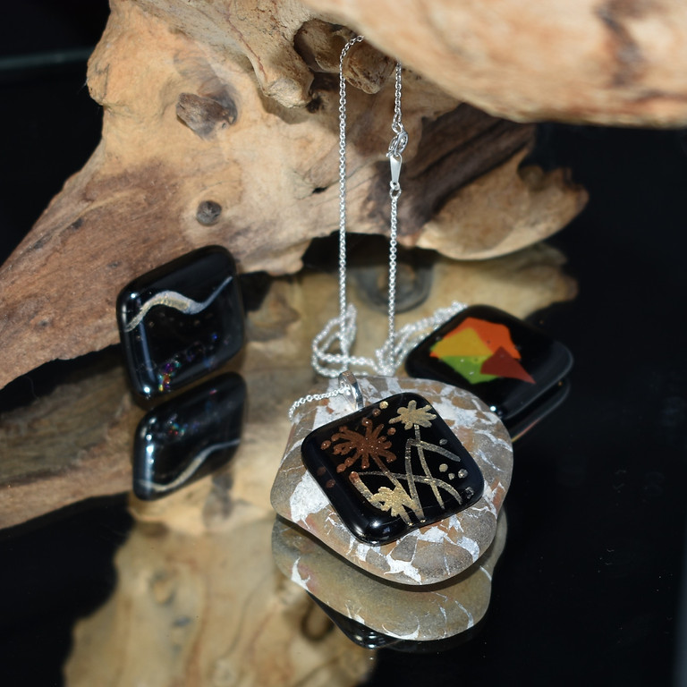 Halloween Glass Dichroic Pendant Necklace Workshop