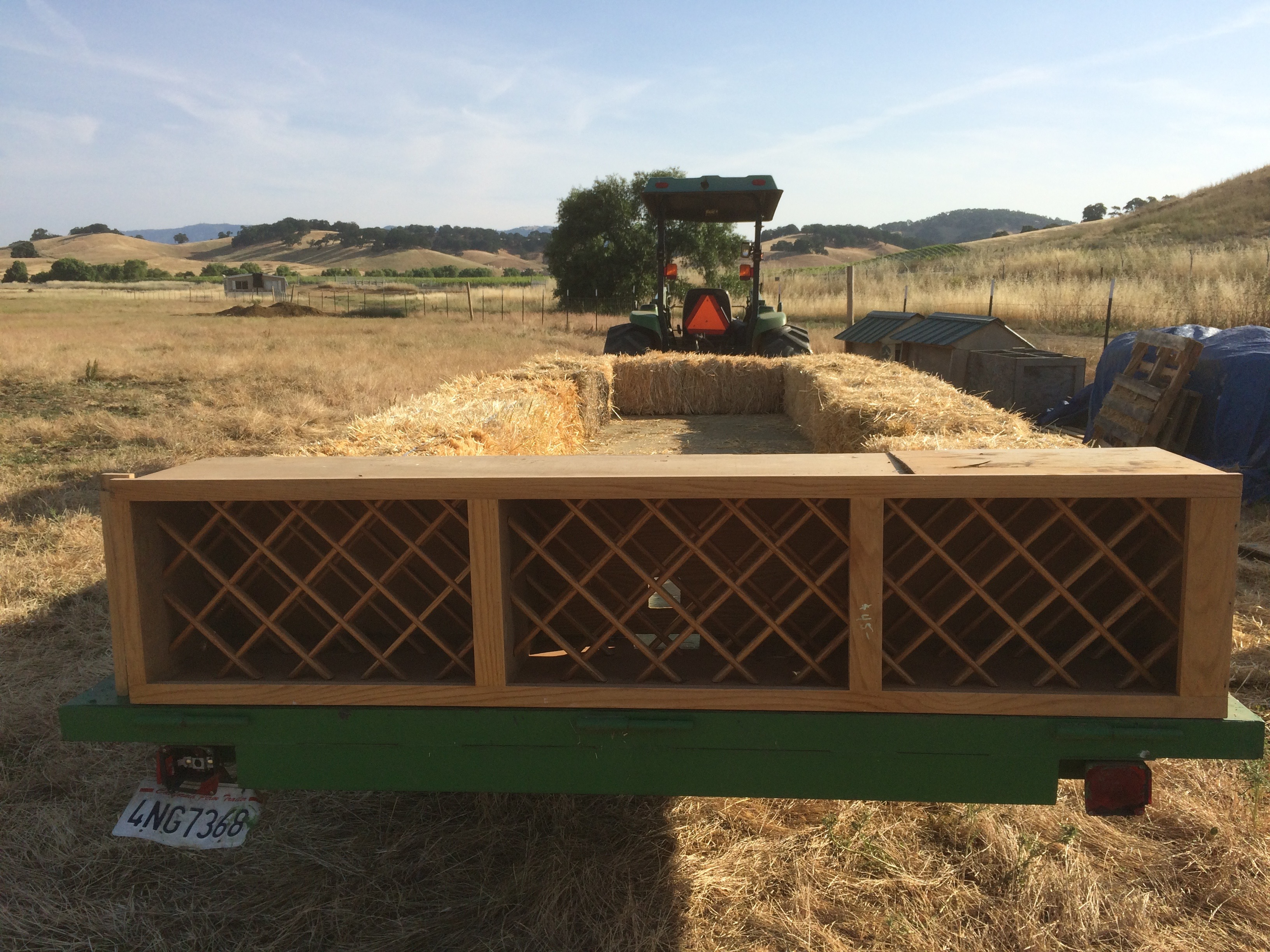 Hay Wagon Wine Rack!
