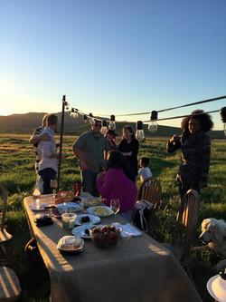 Farm Dinner on Pasture