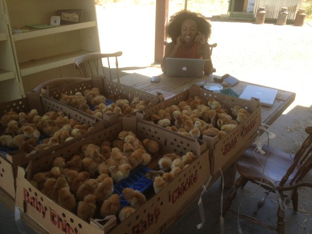 Gaby with New Chicks
