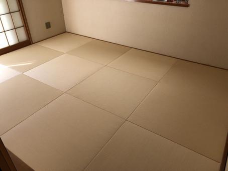和紙のカラー表で琉球畳にしました。