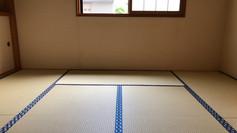 和紙の畳表の張り替えです。