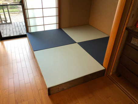 カラー置き畳の製作。