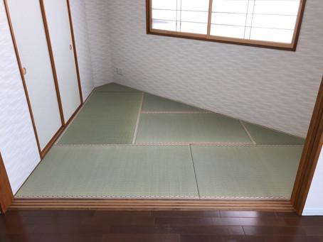 変形の畳の張り替え。