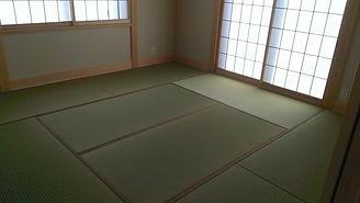流山のお客さんの和室の畳です。