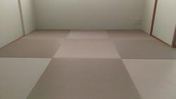 ピンク色の琉球畳です。