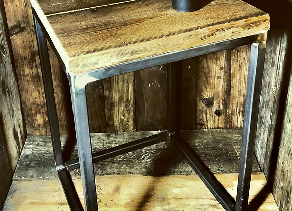 Small side table with steel frame