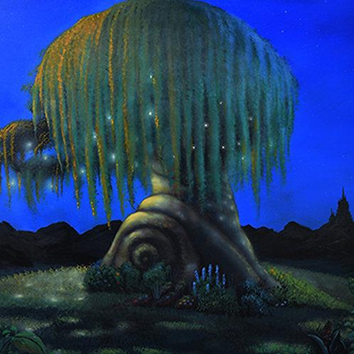 Fibonacci's Fairy Lantern Tree Large Luminescent Oil Painting