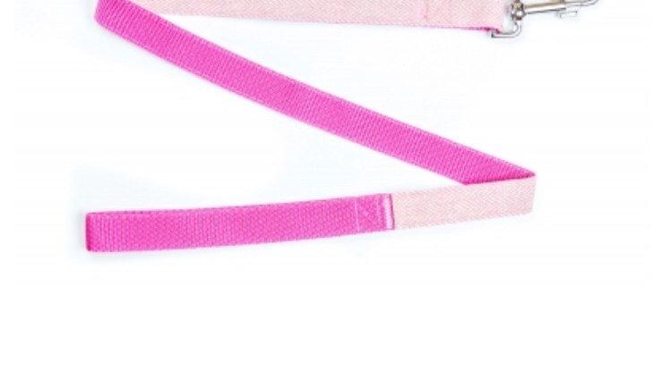 Pink Herringbone Tweed Lead