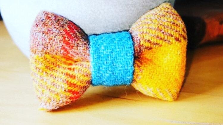 Sunflower Tweed Bow Tie