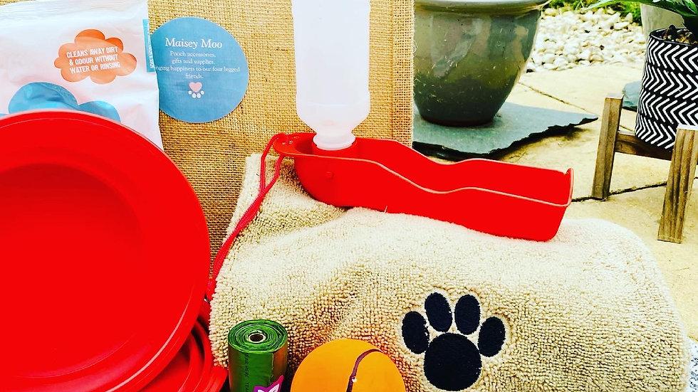 Doggie Holiday Bag Large & Small/medium Bowls