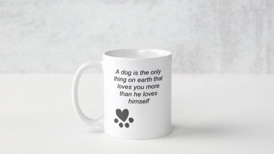 Dog Quote Mug A dog is .....