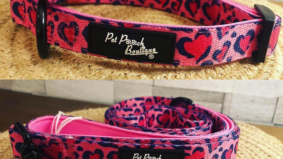 Pink Hearts Collar