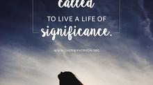 Living a Significant Life
