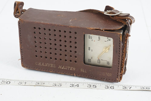 1960s Channel Master Transistor Radio With Case