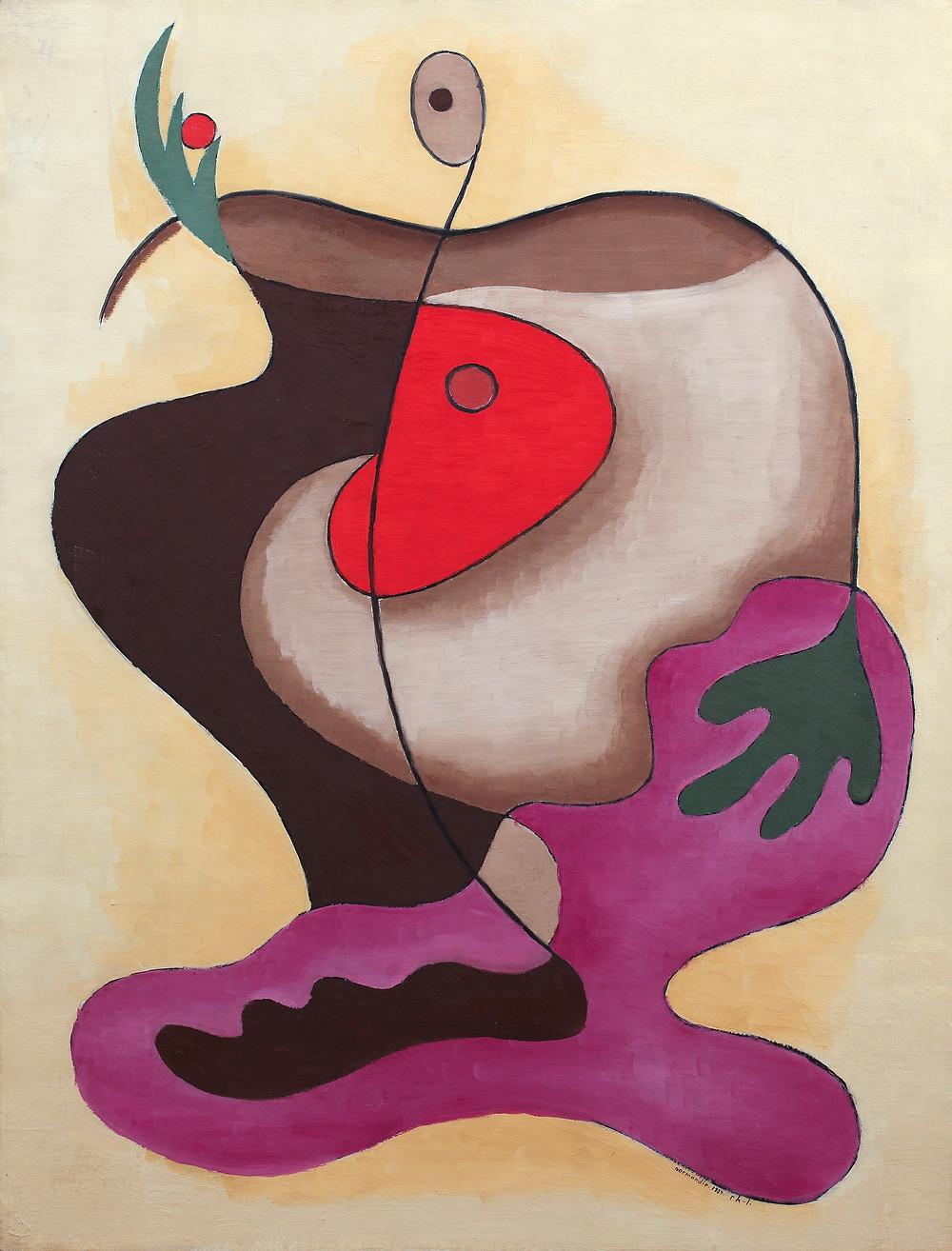 """Rita Kernn-Larsen, 'La pommes de la Normandie (""""Æblet"""")', 1934. Købt 1993 af kunstneren Kunsten Museum of Modern Art Aalborg. Foto: Niels Fabæk"""