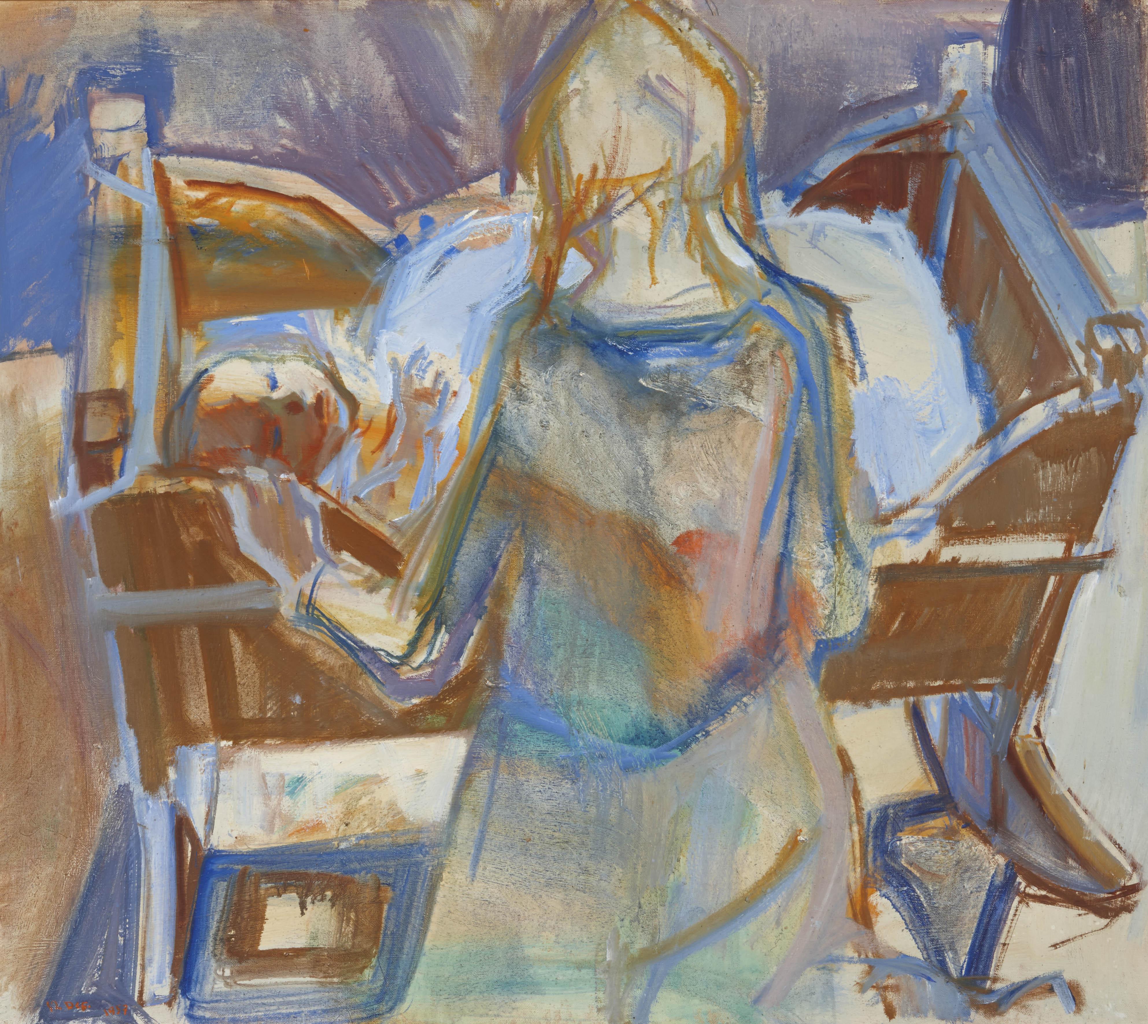 Tidssvarende Odsherreds blå maler - indtryk af Poul S. Nielsen YF-75