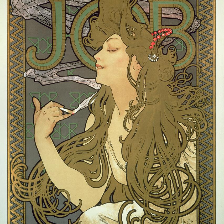 Alphonse_Mucha,_Plakat_til__Job__cigaretpapir,_1896_©_Mucha_Trust_2018_2