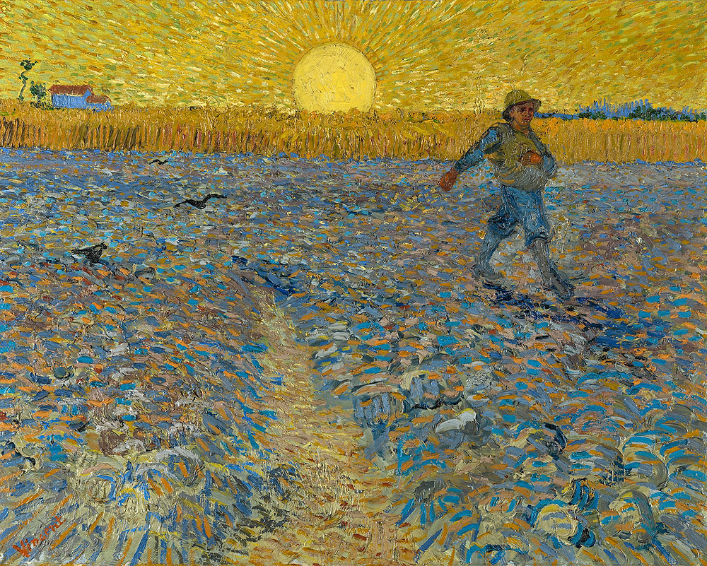 Vincent van Gogh, Sædemanden, 1888. Coll. Kröller-Müller Museum, Otterlo