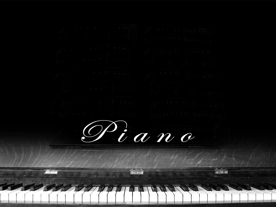 Black and white Piano, music lessons.