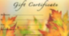 music gift certificate