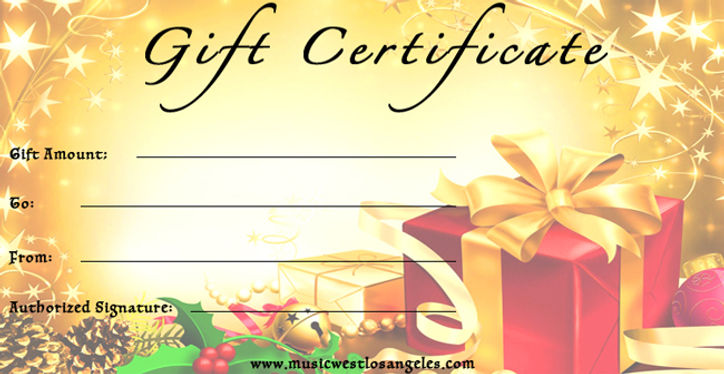 sight reading gift certificate