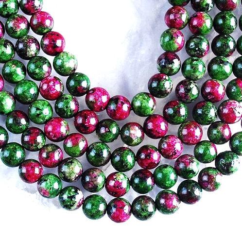 Natural Ruby in Fuchsite Bracelet 6mm