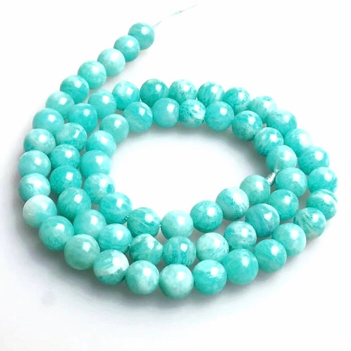 Natural Amazonite 10 mm Bracelet Grade AAA