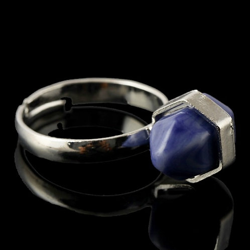 Natural Sodalite Adjustable Ring