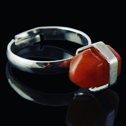 Natural Carnelian Adjustable Ring