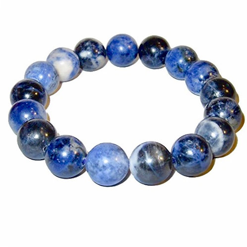 Natural Sodalite Bracelet 10 mm Grade AAA