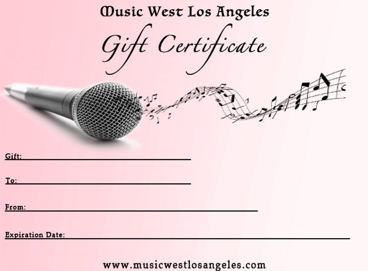 voice gift certificate