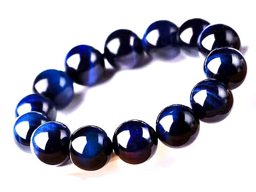Natural Blue Tiger Eye Bracelet 10 mm