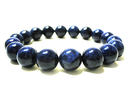 Natural Dumortierite Bracelet 10 mm, Grade AAA