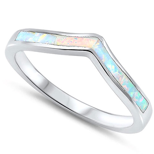 Natural Opal Silver Ring Size: 8