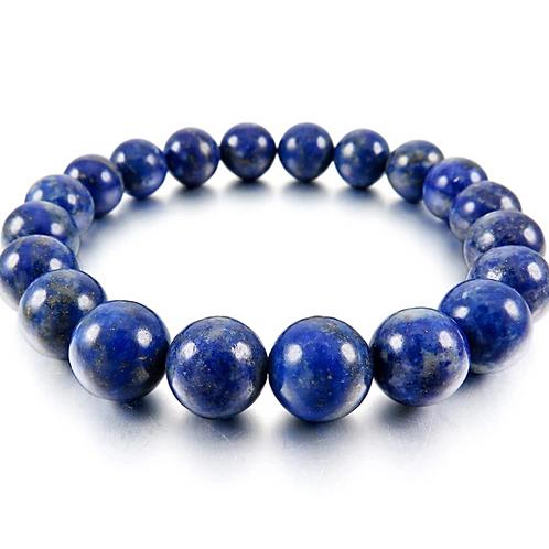 Natural Lapis Lazuli Bracelet 10 mm Grade AAA
